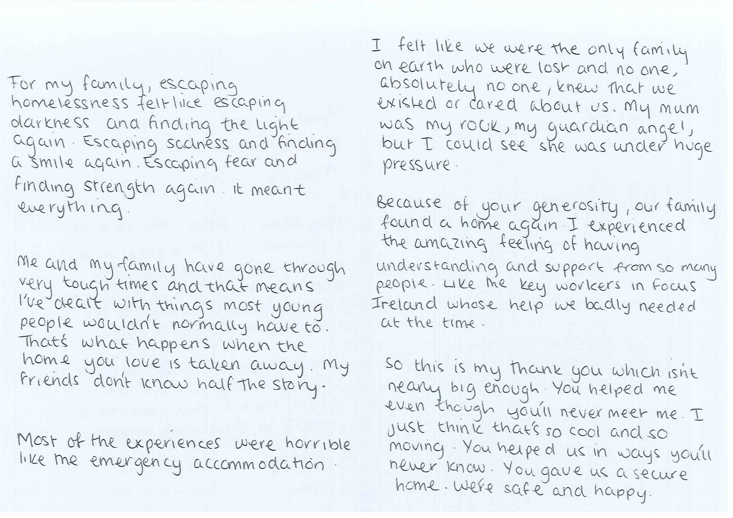 Campaign gallery focus ireland thank you letter and note from allie inside pages of letter from allie to the donor expocarfo Gallery
