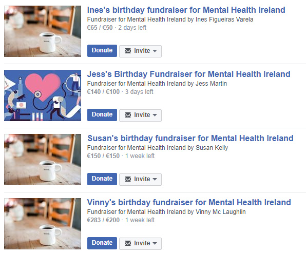 MHI's Facebook Fundraisers