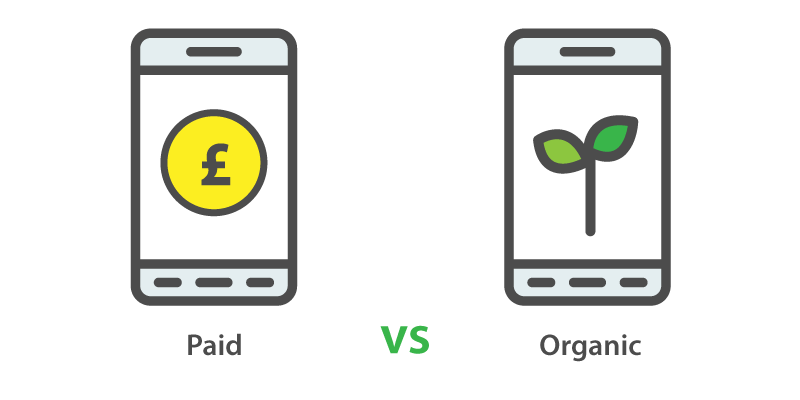 Paid vs organic Facebook